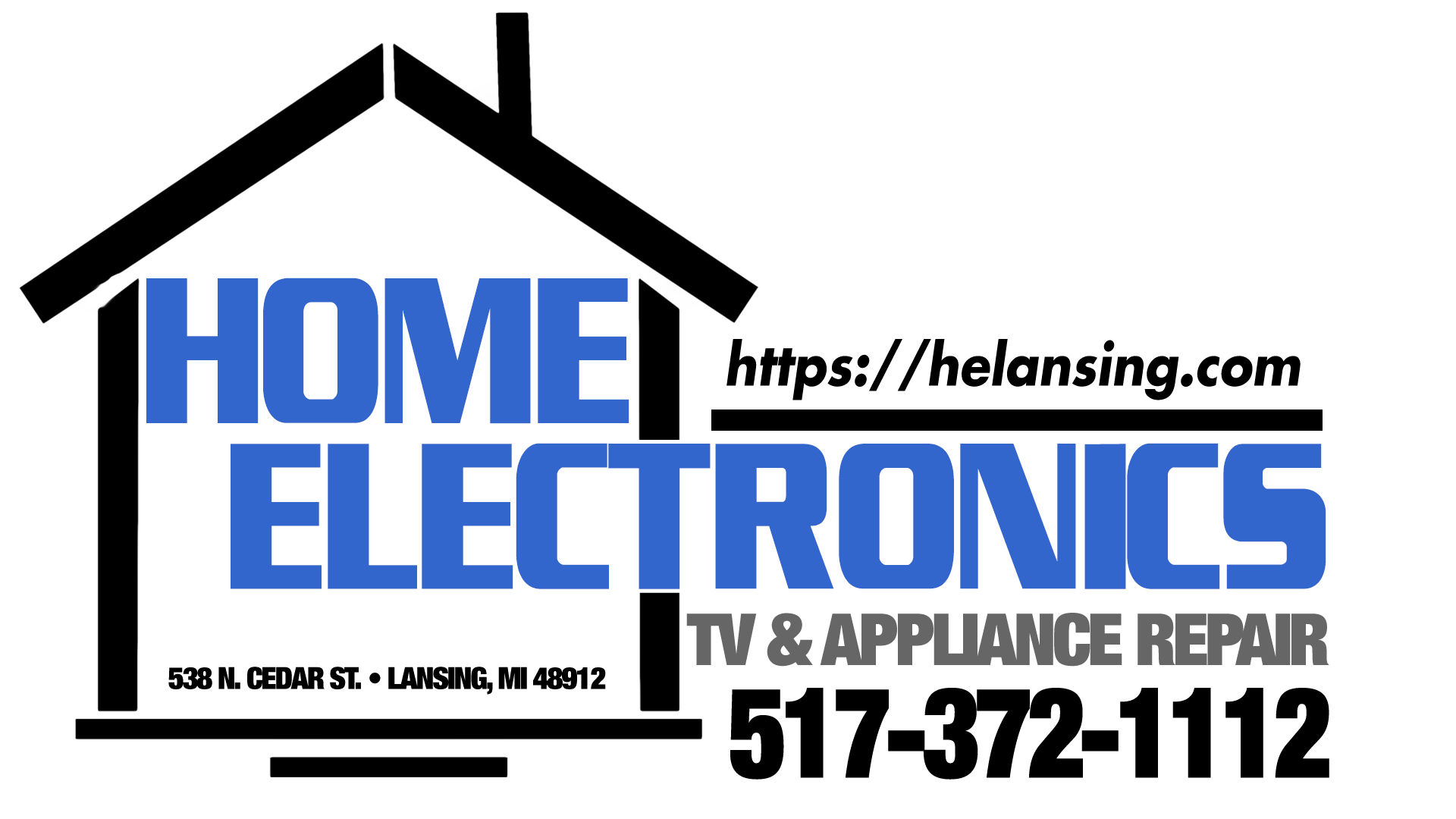 Home Electronics, Lansing, Michigan, Home Appliances and Television Repairs Logo